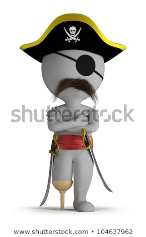 3d small people   pirate stock photo © anatolym