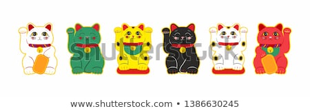 Japanese cat Maneki Neko stock photo © pinkblue