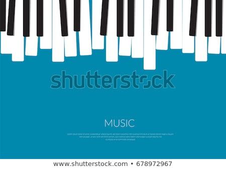 Zongora billentyűk közelkép feketefehér zongora koncert kulcs Stock fotó © filmstroem