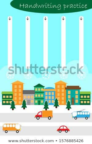 Stockfoto: Leren · vliegen · sneeuwvlokken · christmas · foto