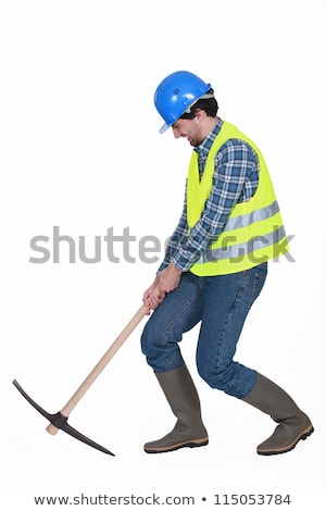 Worker struggling to lift axe Stock photo © photography33
