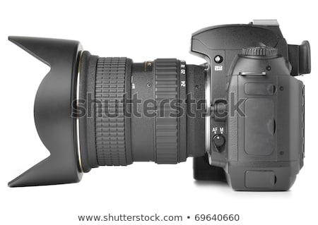 Oldalnézet digitális fotó kamera zoom lencse Stock fotó © feedough
