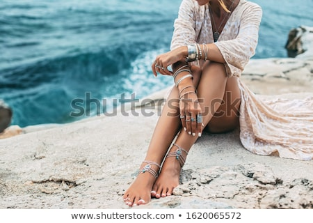 woman with jewelry Stock photo © imarin