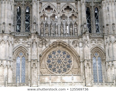 the dome of the east face of burgos cathedral spain stock photo © photooiasson