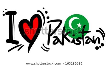 Kép szív zászló Pakisztán vidék Stock fotó © perysty