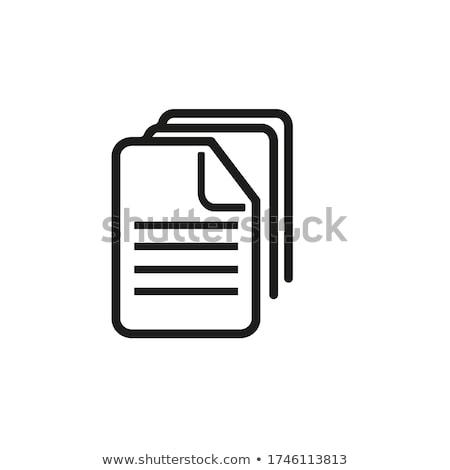 web · archivo · botón · aislado · blanco · negocios - foto stock © tashatuvango