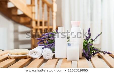 lawendy · esencja · kwiaty · butelki - zdjęcia stock © neirfy