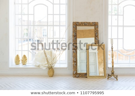 luxury bedroom with golden furniture in royal interior stock photo © victoria_andreas