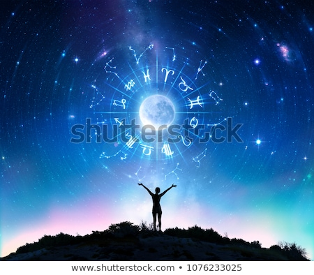zodíaco · horóscopo · assinar · beautiful · girl · mulher · futuro - foto stock © izakowski
