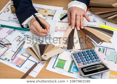 Calculator, pancil and project stock photo © a2bb5s