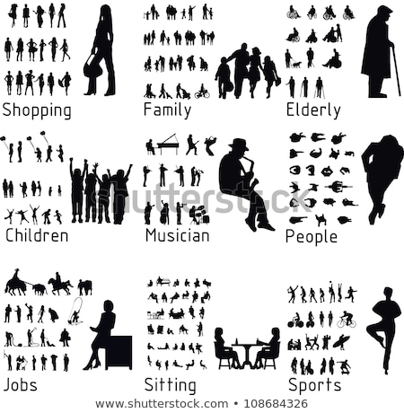 actif · personnes · silhouettes · silhouette · illustration - photo stock © rtguest