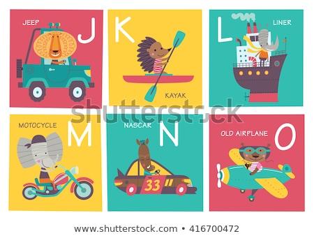 Stock fotó: ábécé · rajzolt · állatok · háttér · oktatás · levél · olvas