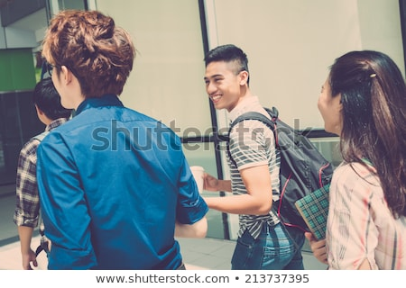 Friends going to class Stock photo © photography33