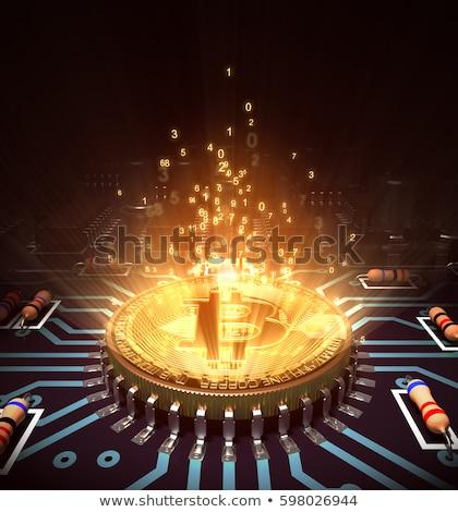 elektronische · circuit · board · centraal · bewerker · computer · industrie - stockfoto © jirkaejc
