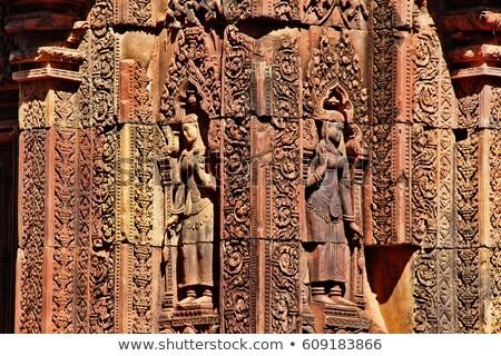 顔 ウィンドウ 礼拝 ジャングル アジア 宗教 ストックフォト © soonwh74
