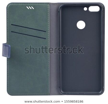 smartphone in leather case isolated on white Stock photo © Photocrea