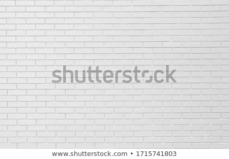 blanco · pintado · pared · de · ladrillo · edificio · fondo · piedra - foto stock © latent