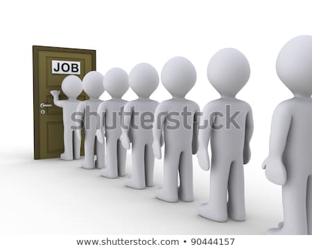 3d people in line waiting for job interview  Stock photo © dacasdo