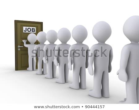 3D · witte · mensen · sollicitatiegesprek · witte · sociale · netwerken - stockfoto © dacasdo