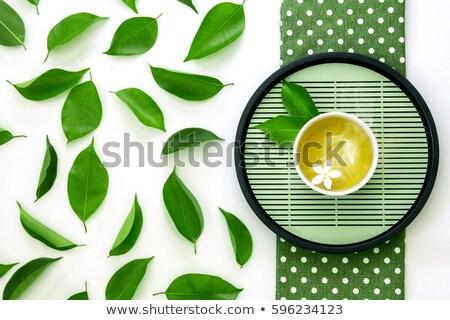 Stock fotó: Friss · zöld · tea · üveg · edény · vízszintes · fotó