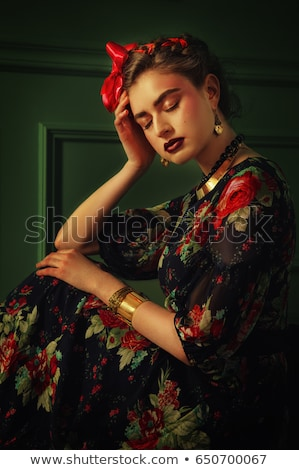 Young romany woman dance spanish flamenco with passion Stock photo © vetdoctor