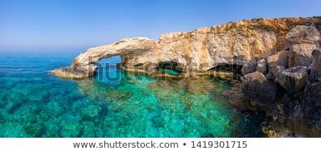 Ciprus tájkép panorámakép kilátás domb föld Stock fotó © mahout