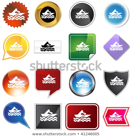 Evezős csónak választék szett izolált fehér fitnessz Stock fotó © cteconsulting