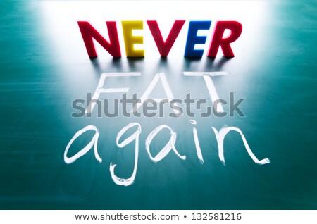 Never fat again concept Stock photo © Ansonstock