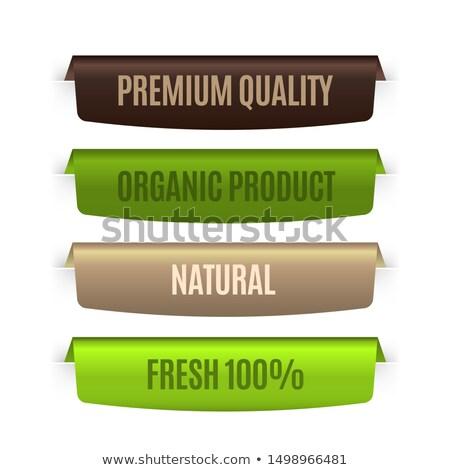 Bio retro zestaw eco szablon Zdjęcia stock © Genestro