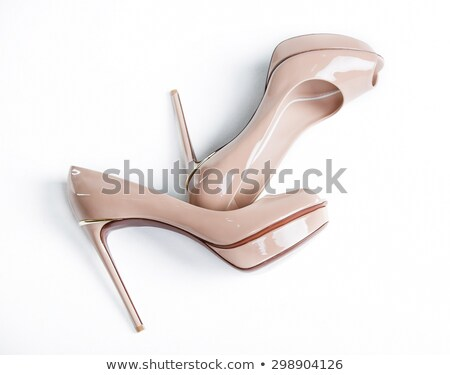 Black patent leather women's high heels Stock photo © Supertrooper