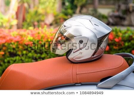 блондинка · девушки · мотоцикл · довольно · большой - Сток-фото © arenacreative