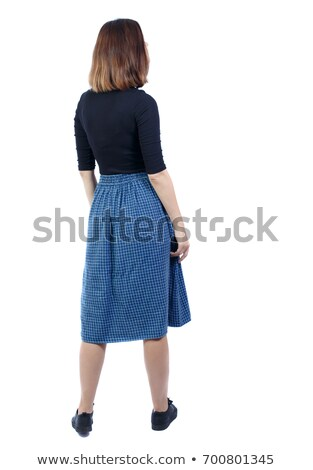rear view of woman standing stock photo © zzve