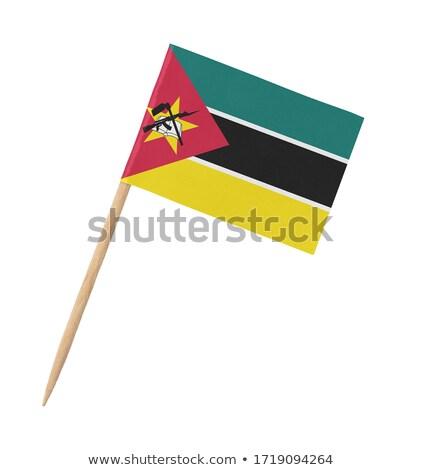 Miniatura bandeira Moçambique isolado amarelo Foto stock © bosphorus