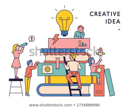 Pomysły kreatywność Motyl netto ludzi Zdjęcia stock © Lightsource
