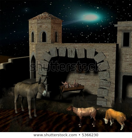 Chistmas Stable In Bethlehem Stock photo © albund