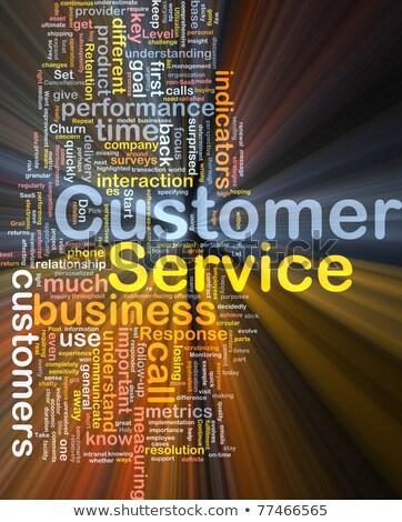 background concept wordcloud illustration of customer service stock photo © dacasdo