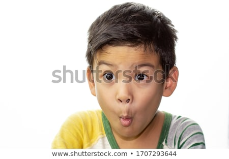 Boy making funny face Stock photo © iofoto