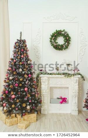 natal · bolinhos · forma · árvore · de · natal · tiro · cinza - foto stock © rob_stark