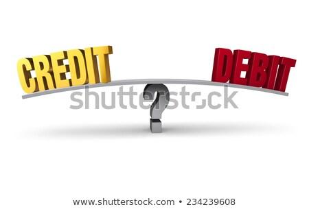 Débito crédito elección amarillo dirección signo Foto stock © tashatuvango