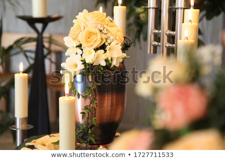 Stock photo: Grief - urn Funeral and cemetery