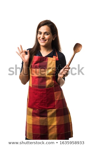 Stock fotó: Happy Housewife In The Kitchen