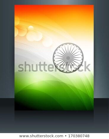 indiano · ilustração · cidadão · bandeira · tricolor - foto stock © bharat