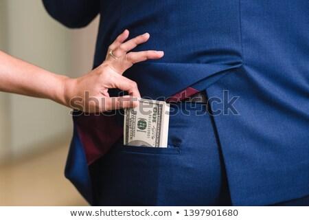 lop · hitelkártya · ki · pénztárca · izolált · fehér - stock fotó © andreypopov