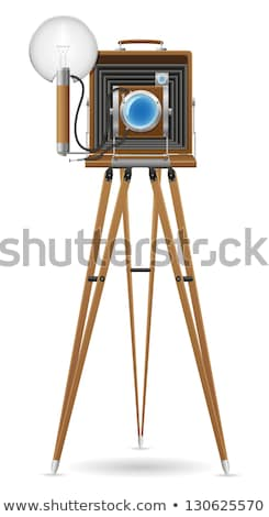 old instant camera in a tripod stock photo © nito