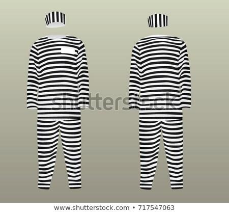 заключенный полосатый равномерный белый металл прав Сток-фото © Elnur