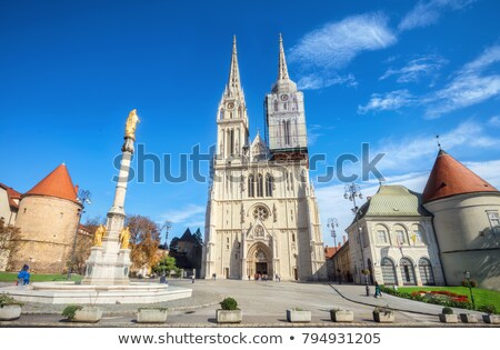 Zagreb Cathedral view Stock photo © joyr