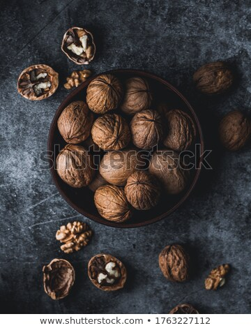 Close up walnuts Stock photo © dashapetrenko