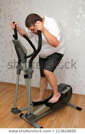 Excesso de peso homem bicicleta saúde esportes Foto stock © Mikko