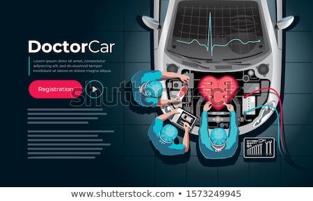 Auto voiture médecin souriant mécanicien Photo stock © jorgenmac