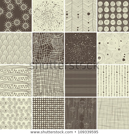 Set of seamless patterns of hand drawn letters   Stock photo © elenapro